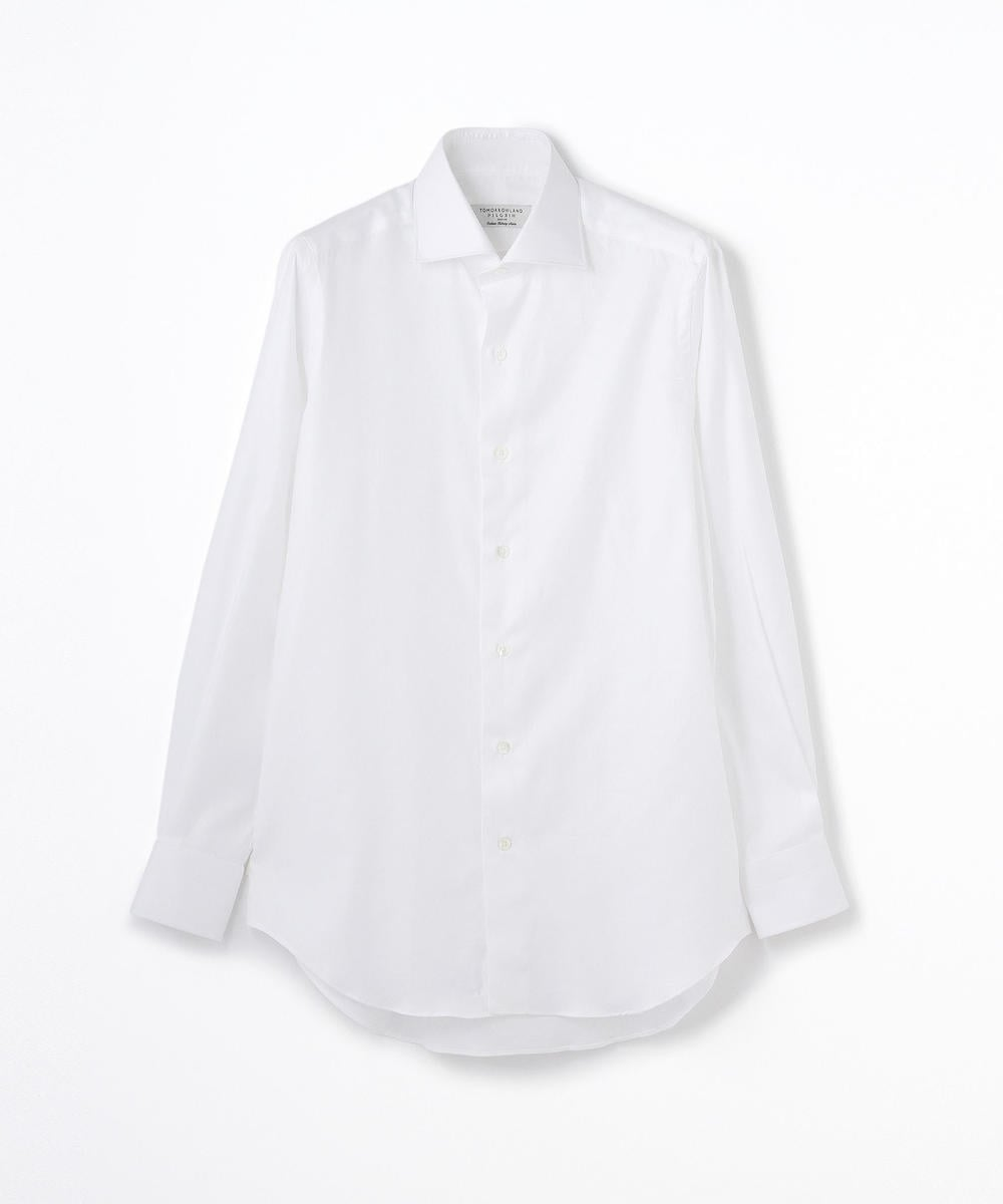 140/2コットンツイル ワイドカラー ドレスシャツ