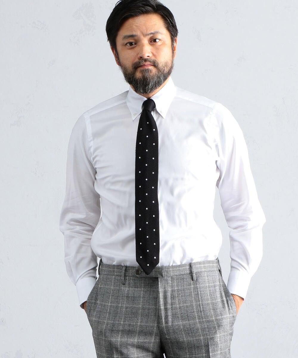 140/2コットンロイヤルオックスフォード ボタンダウン ドレスシャツ