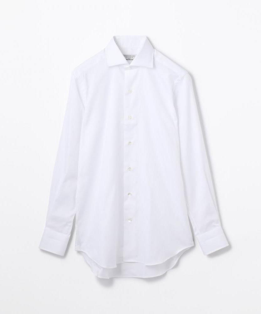 120/2コットンロイヤルオックス ワイドカラー ドレスシャツ