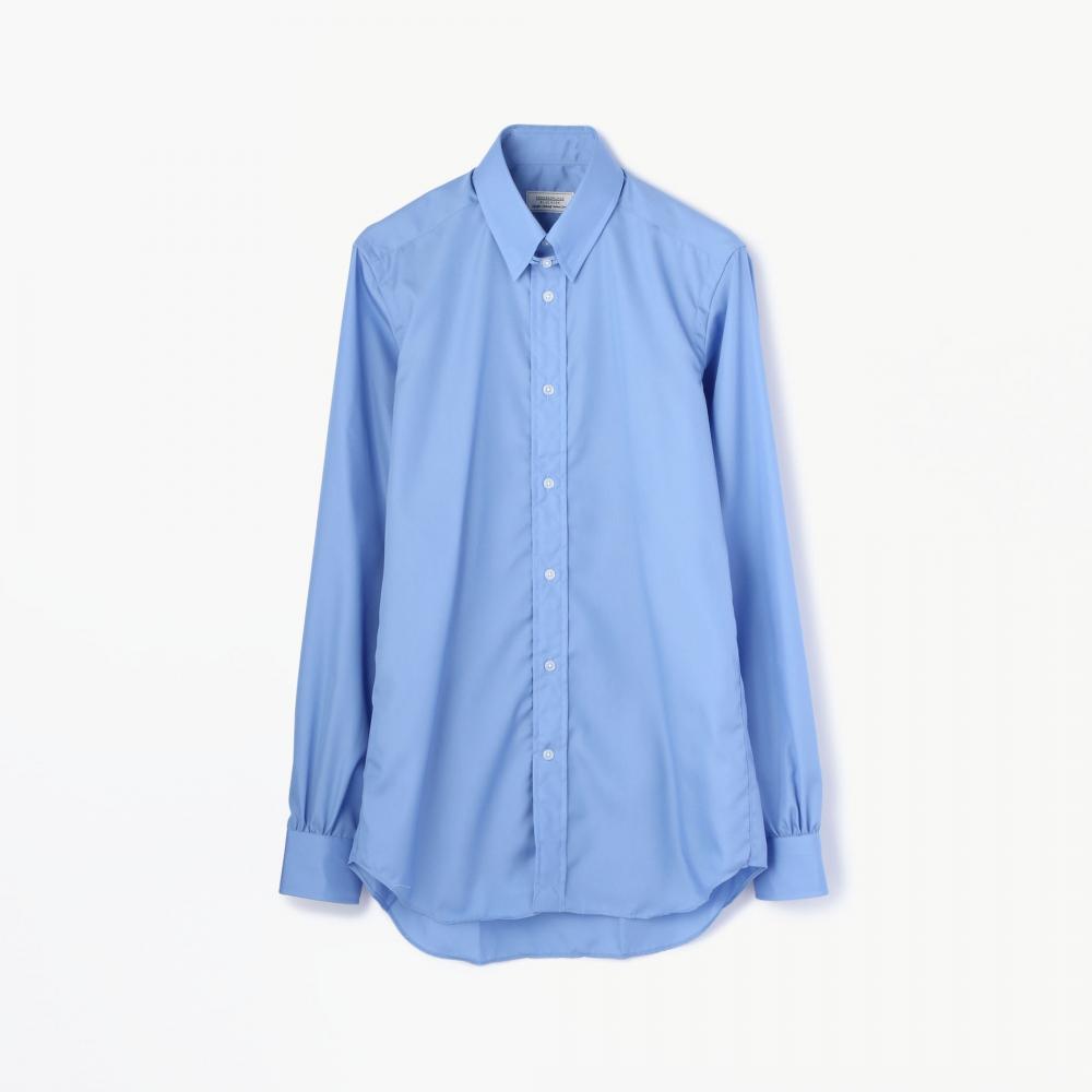 100/2コットンブロード タブカラーシャツ(ノンアイロン)
