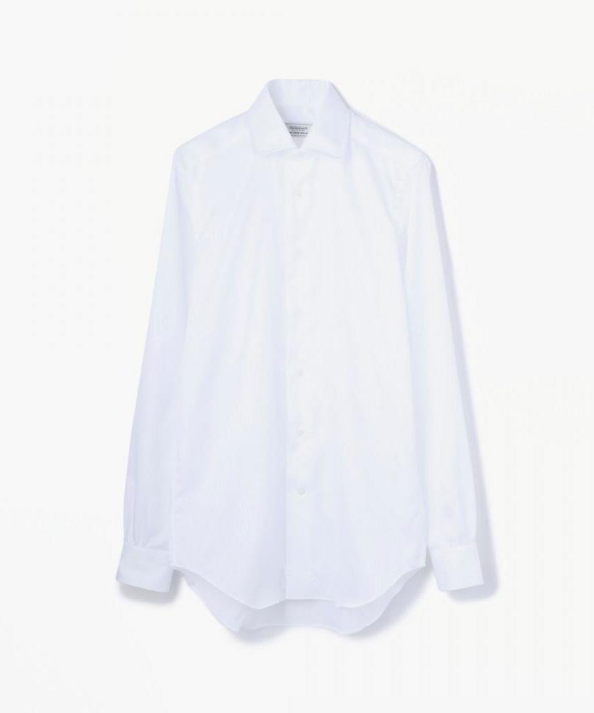 80/2コットンドビー ワイドカラーシャツ(ノンアイロン)