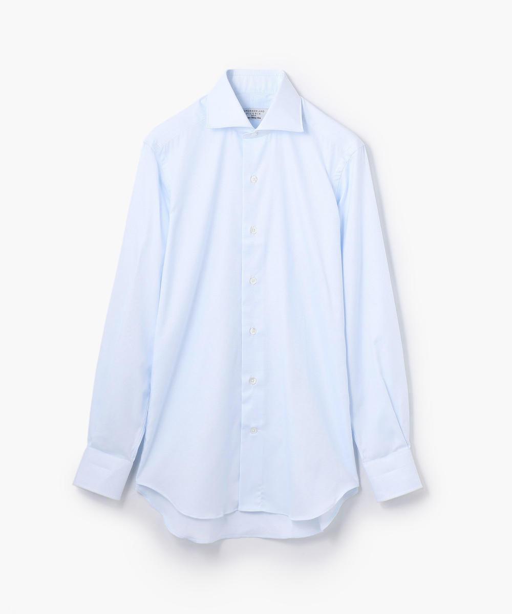 100/2コットンドビー ワイドカラー ドレスシャツ