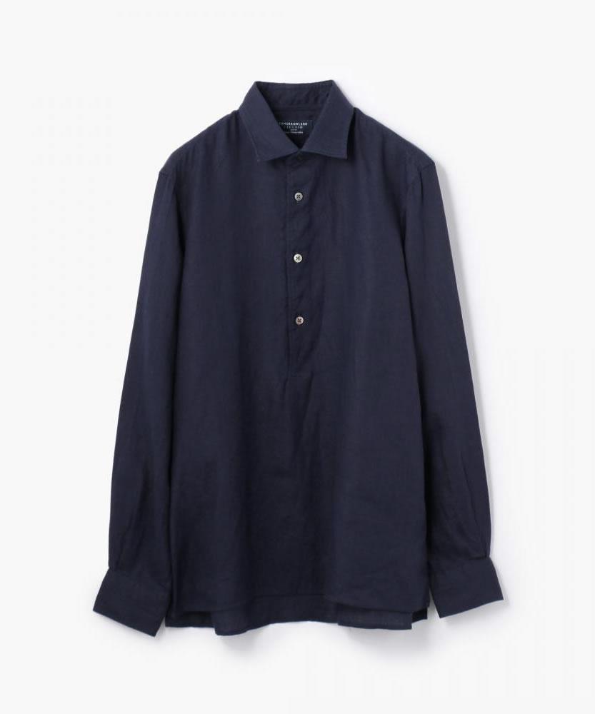 サハラ ワイドカラープルオーバーシャツ