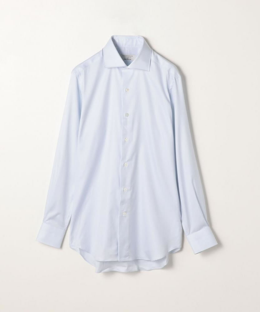120/2サテンツイル ワイドカラードレスシャツ NEW WIDE-?