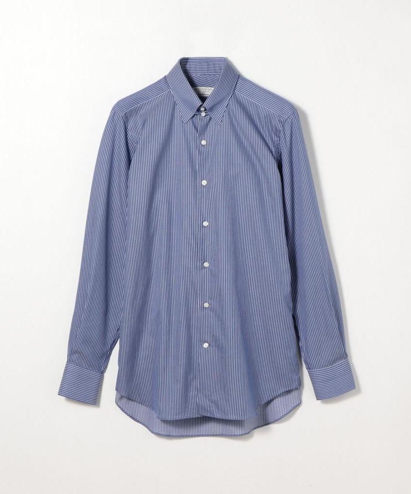 120/2コットンストライプ タブカラードレスシャツ NEW TAB