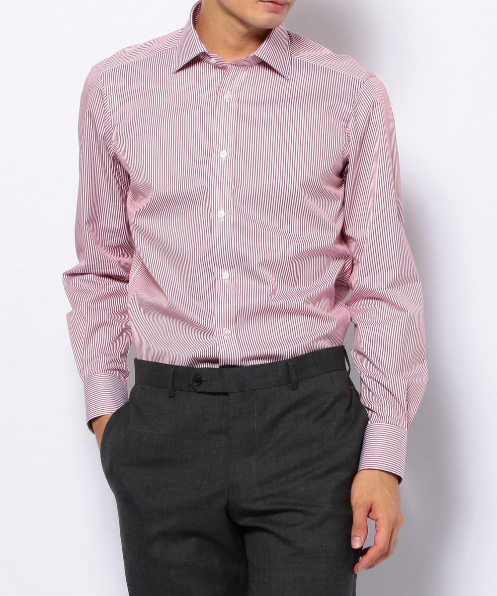 120/2コットンストライプ ワイドカラードレスシャツ NEW WIDE-3