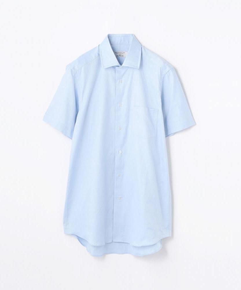コットンロイヤルオックスフォード ワイドカラーショートスリーブシャツ