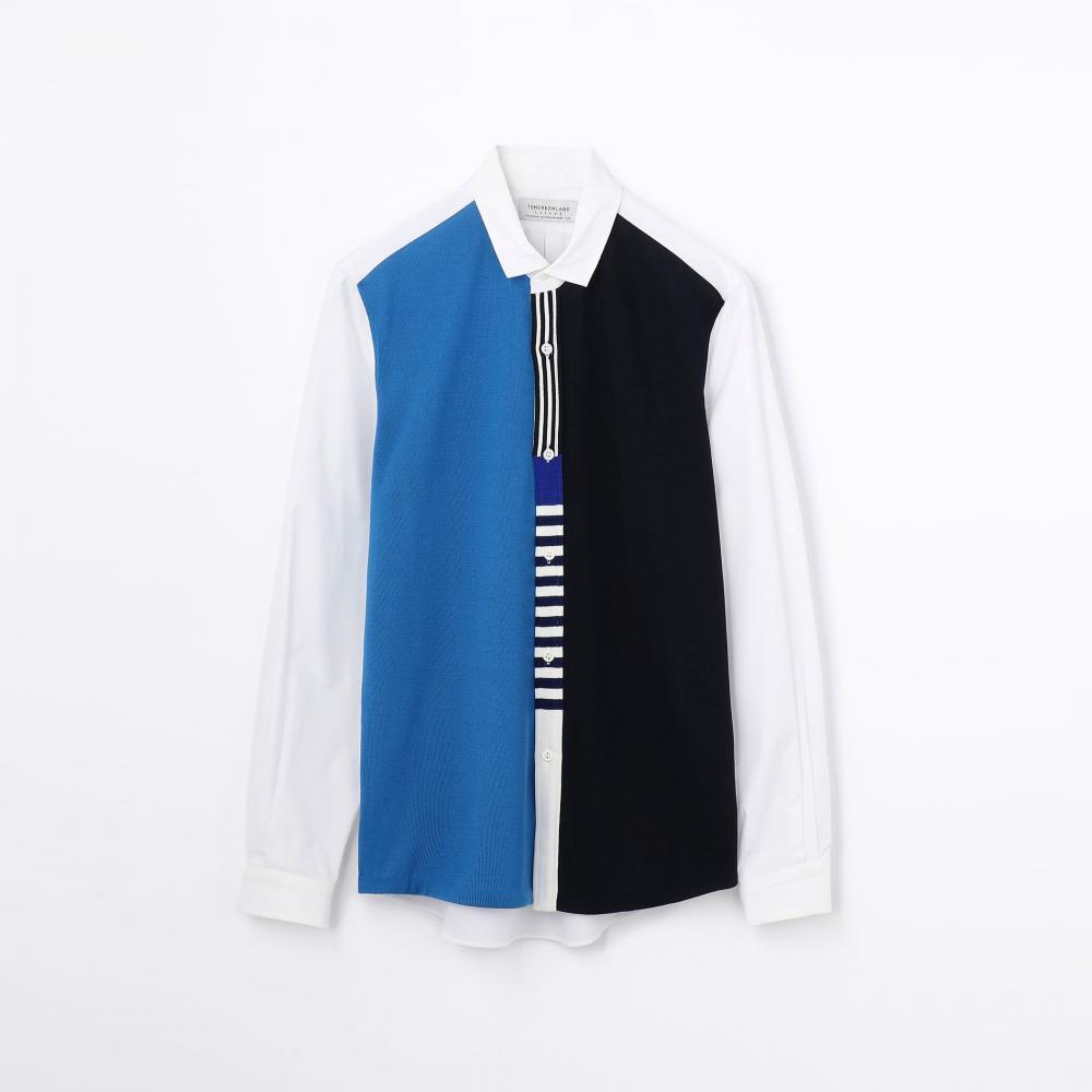 ニットコンビ レギュラーカラーシャツ