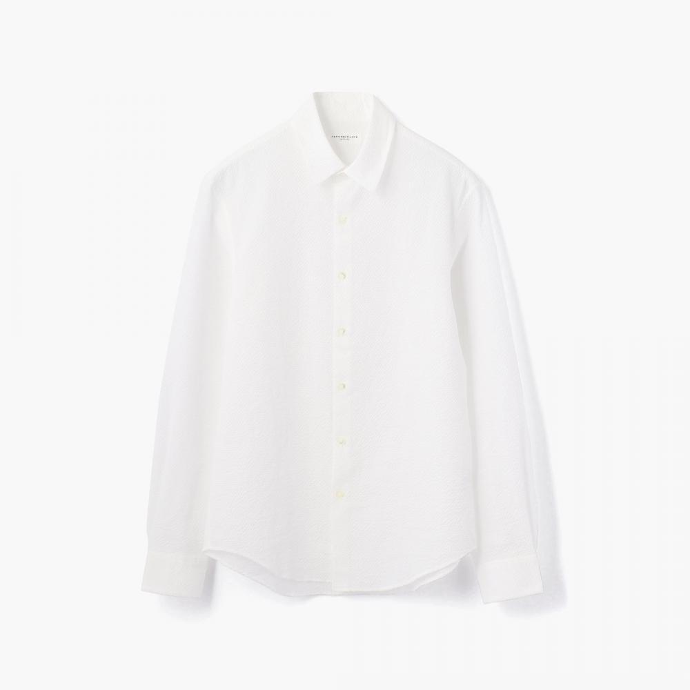 コットンポリエステル レギュラーカラーシャツ