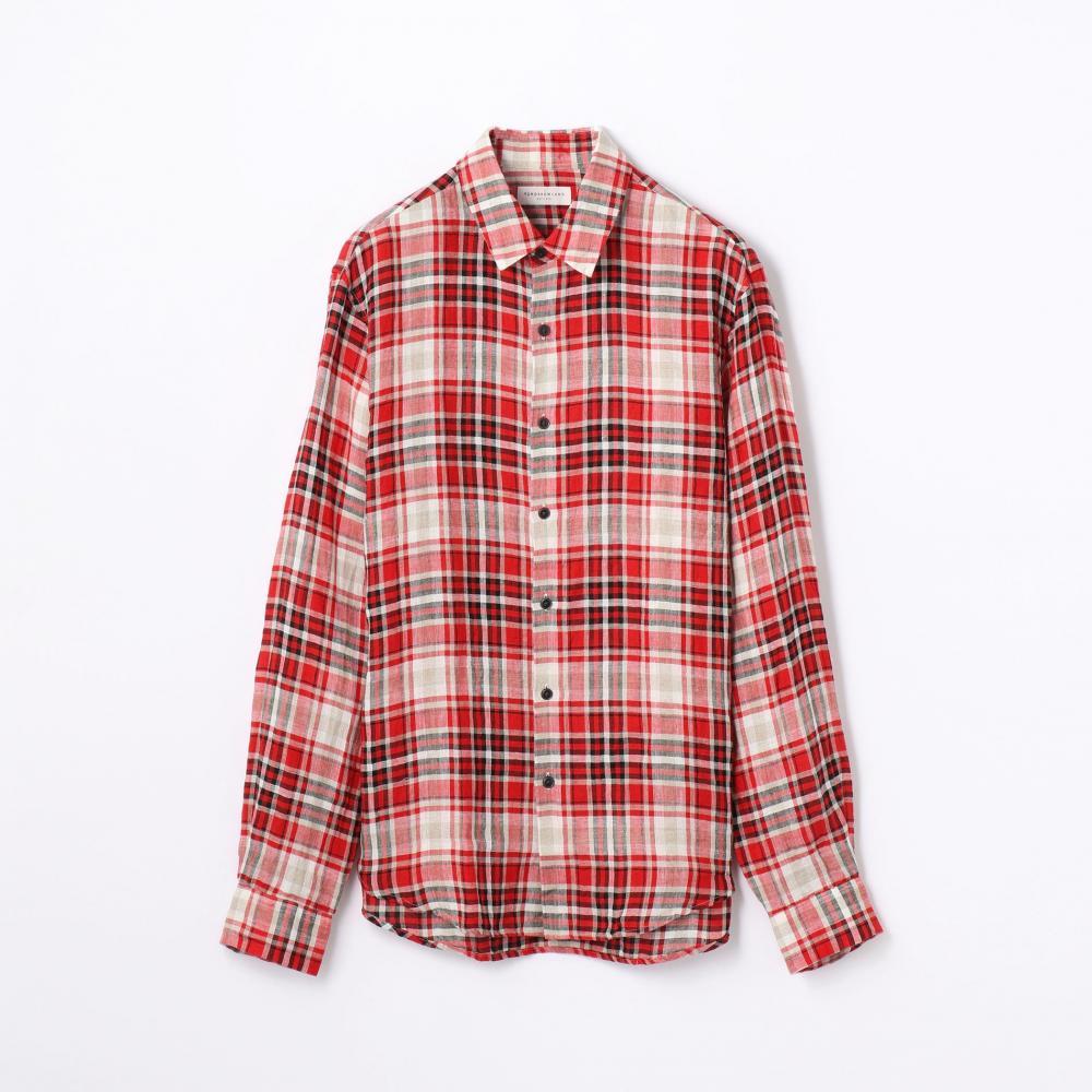 フレンチリネン レギュラーカラーシャツ