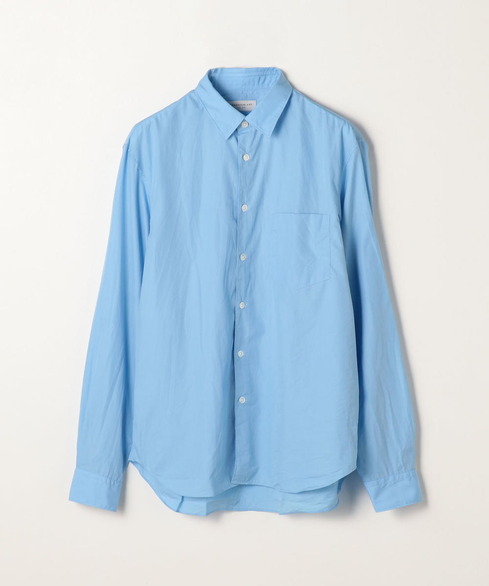 140/2コットンポプリン レギュラーカラーシャツ