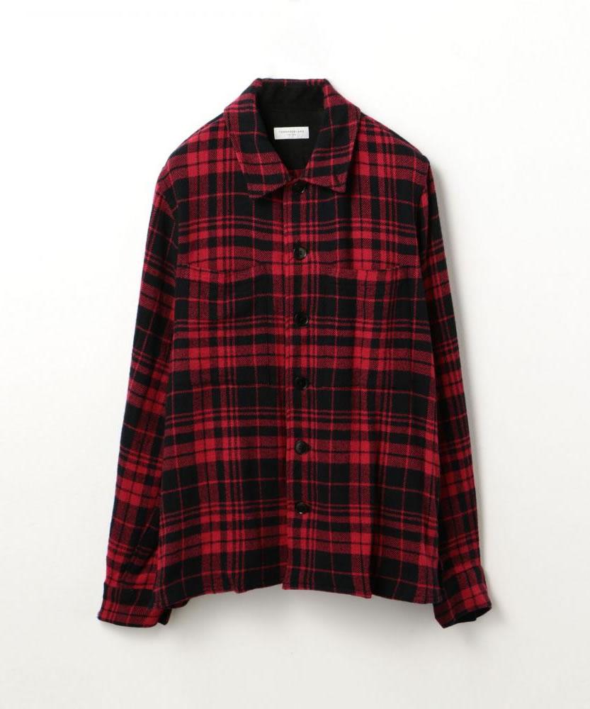 コットンチェック レギュラーカラーシャツ