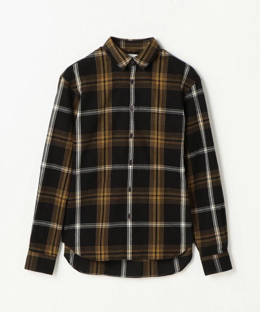 コットンメルトン レギュラーカラーシャツ