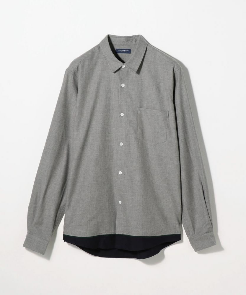 80/2コットンネル レギュラーカラーシャツ