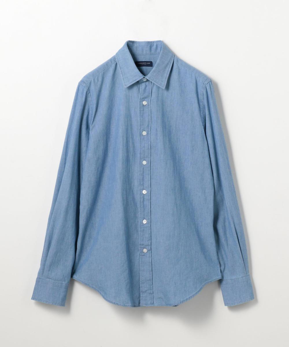 80/2コットンオックスフォード セミワイドカラーシャツ