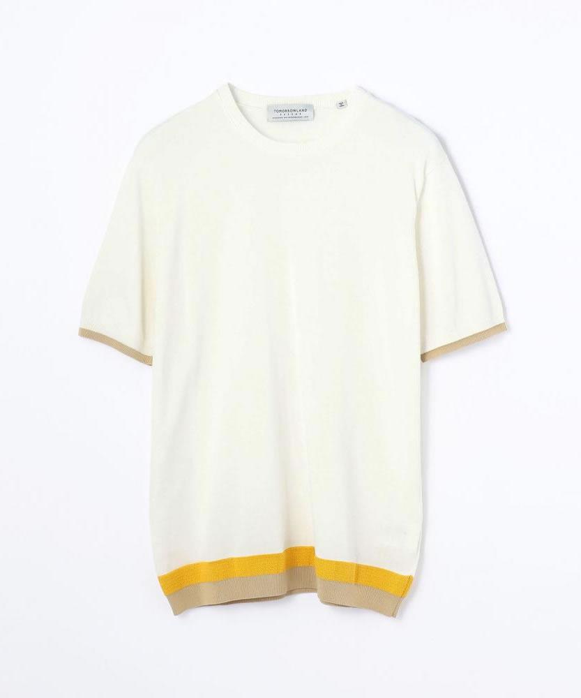 ヘムカラー ニットTシャツ