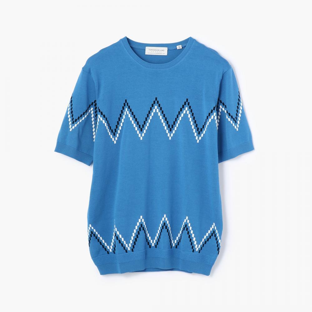 ジグザグドット ニットTシャツ
