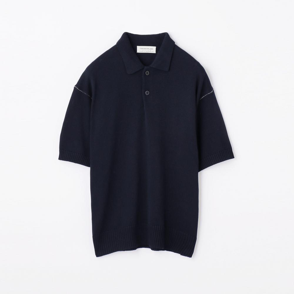 7ゲージコットン ニットポロシャツ
