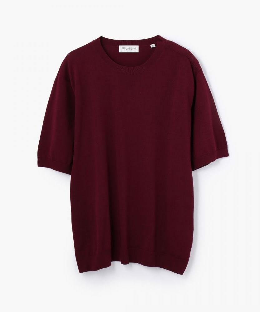 シルクプレーティング ニットTシャツ