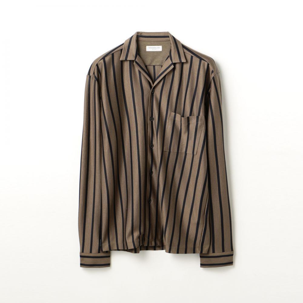 テンセルジャージー オープンカラーシャツ