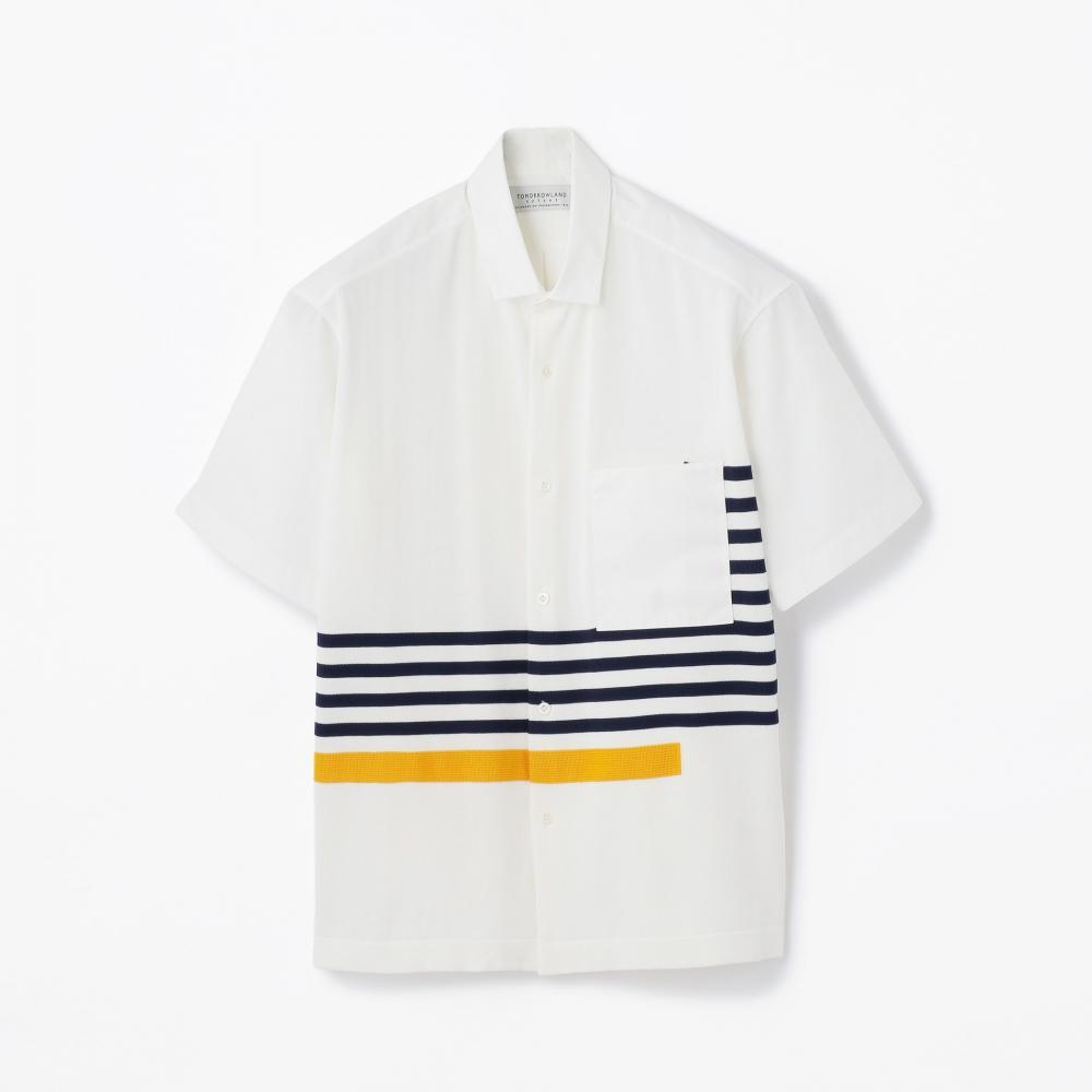 ニットコンビ レギュラーカラーショートスリーブシャツ