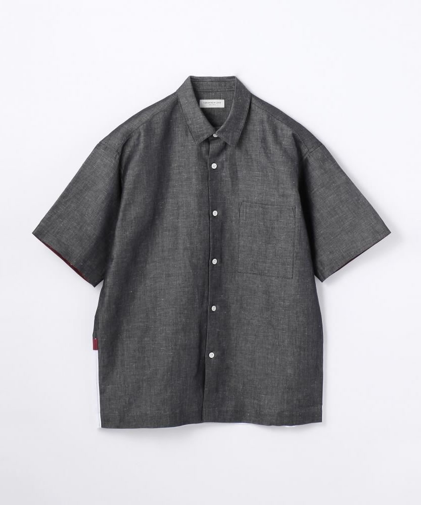ユーロリネンツイル シーリング レギュラーカラーショートスリーブシャツ