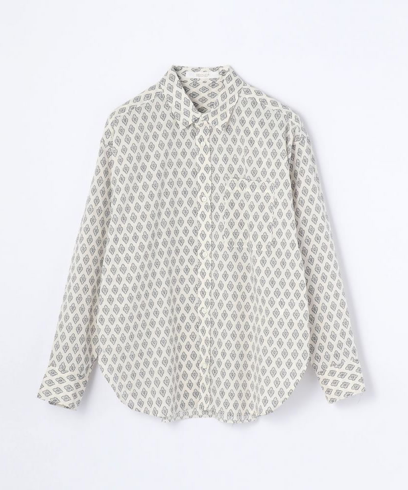 コットンプリント ワイドシャツ