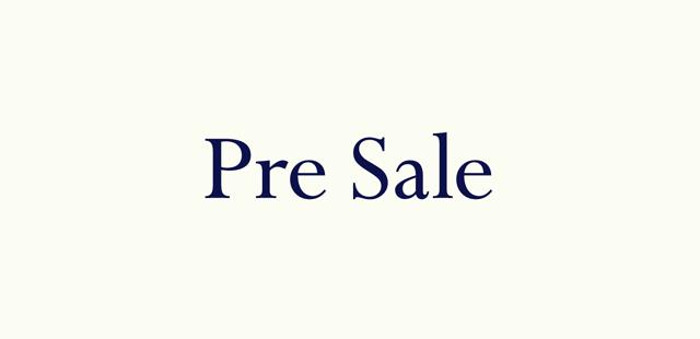 【Pre Sale】