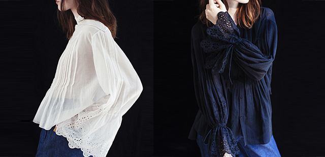 【Scallop Sleeve Lace Blouse】